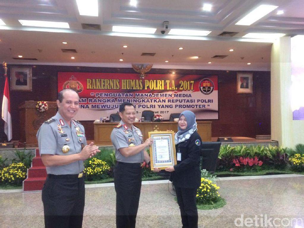 Penghargaan dari Polri untuk detikcom