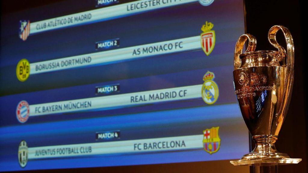 Hasil Undian Perempatfinal Liga Champions