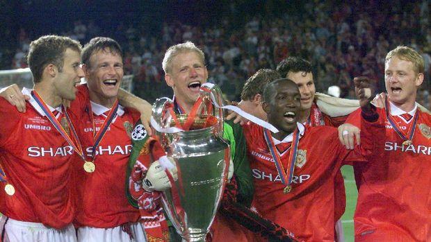 Mancheter United saat menjuarai Liga Champions 1998/1999