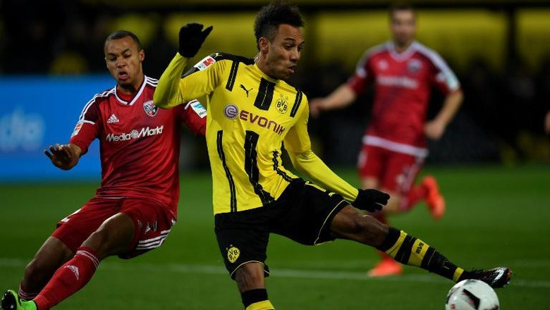 Gol Tunggal Aubameyang Menangkan Dortmund