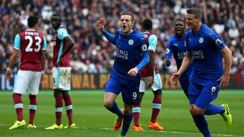 Leicester Lanjutkan Tren Kemenangan, Tumpas West Ham 3-2
