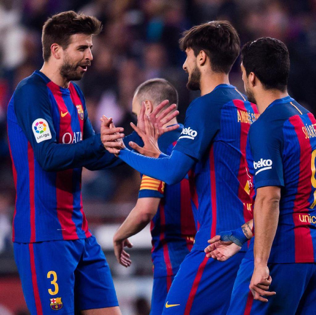 Soal Kans Barca Juara, Pique: Masih Ada Banyak Laga di Liga Spanyol