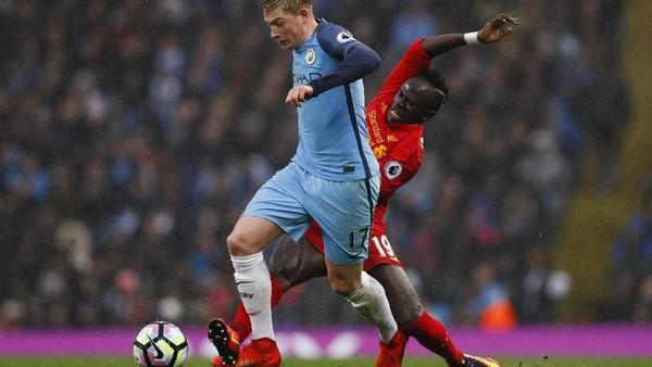 City vs Liverpool, Duel Sayap yang Berakhir Imbang
