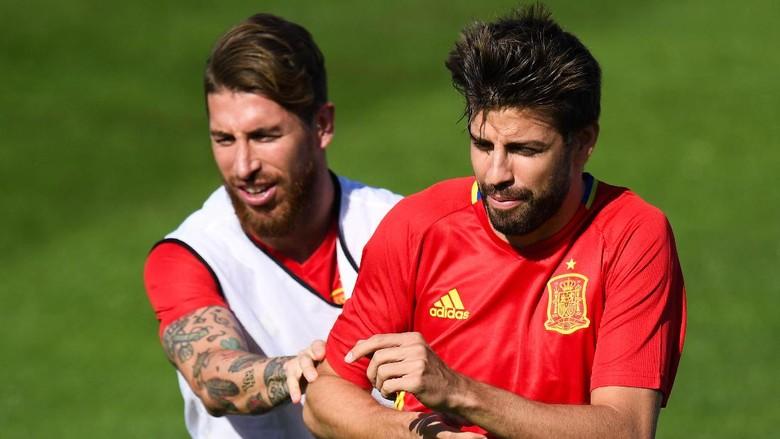 Ramos Sebut Kritikan Pique untuk Madrid Berdampak ke Timnas Spanyol