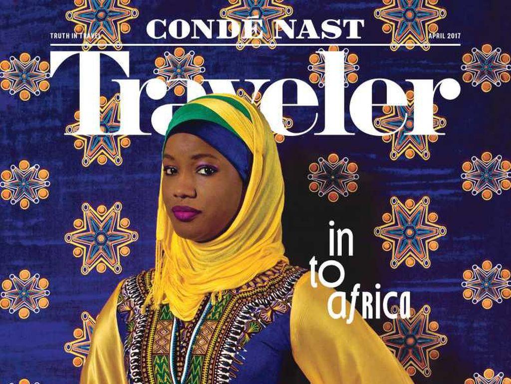 Pertamakali, Hijabers Afrika Eksis di Cover Majalah Travel Amerika