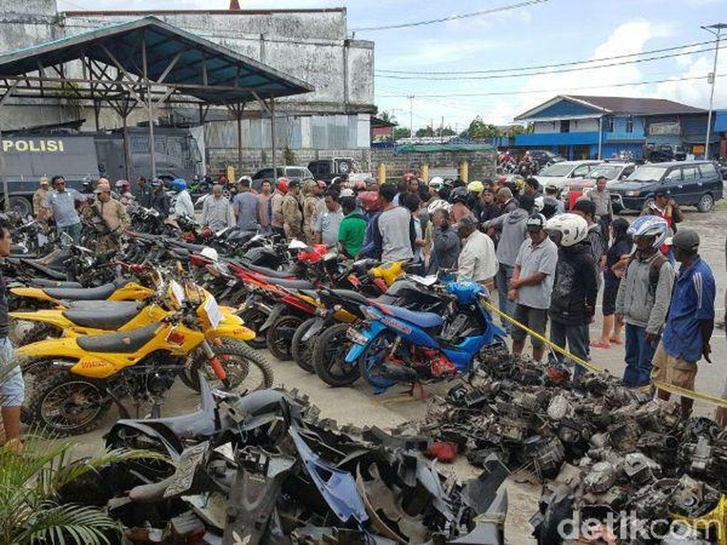 Jaringan Curanmor di Timika Diungkap, 39 Motor Curian Diamankan