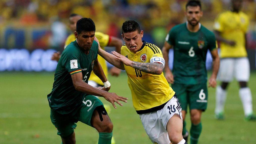 Gol Tunggal James Menangkan Kolombia atas Bolivia