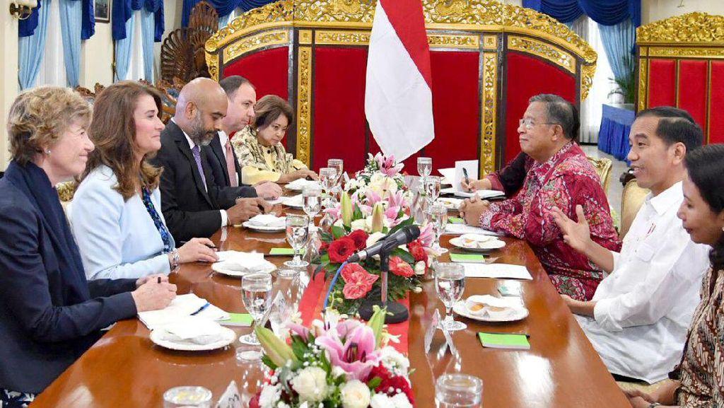 Kala Melinda Gates Satu Meja dengan Jokowi