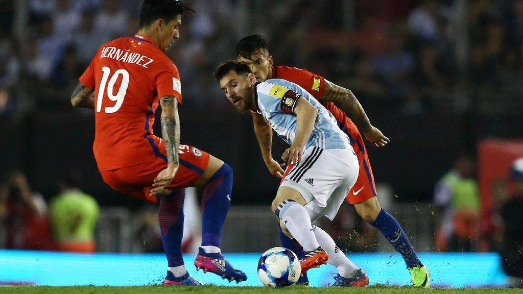Penalti Messi Antarkan Argentina Atasi Chile