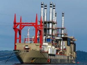 Kapal Genset Raksasa Turki Tiba di Sumut Sebelum Lebaran