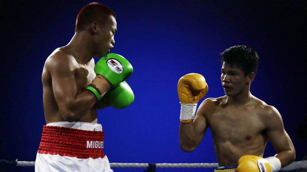 Daud Yordan Menang KO di Ronde Dua atas Petinju Thailand