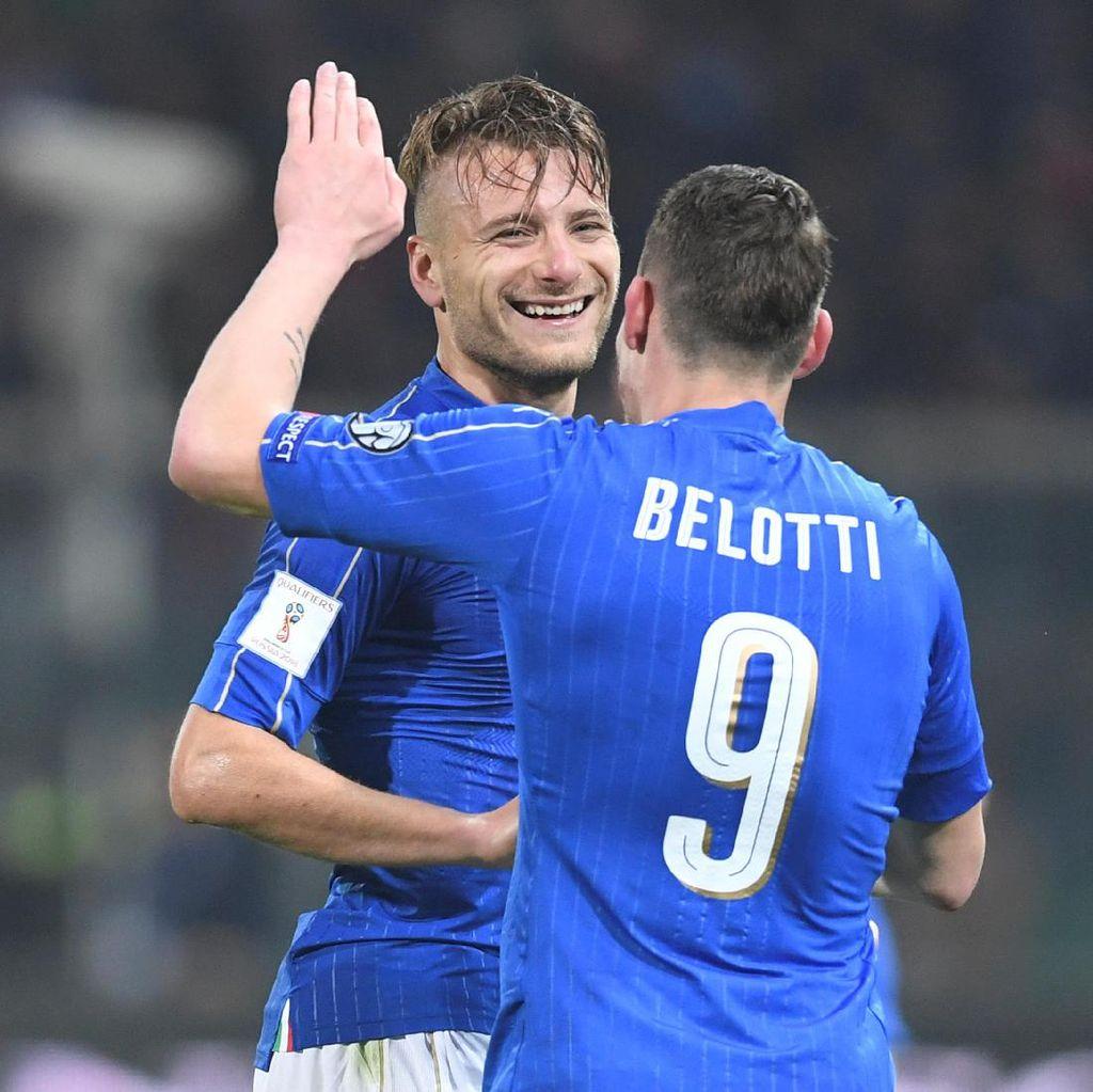 Diwarnai Kekacauan, Italia Kalahkan Albania 2-0