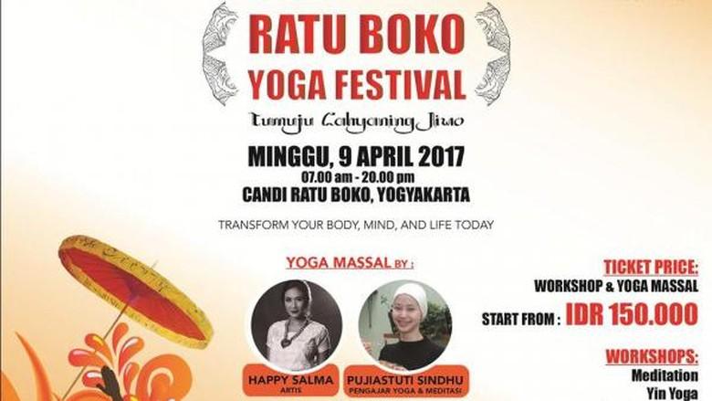 Awal April, Akan Digelar Yoga Massal Di Candi Ratu Boko