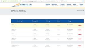 Situs PT KAI Bisa Diakses, Tiket H-2 Lebaran ke Beberapa Kota Ludes
