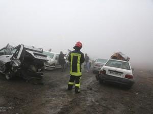 Tabrakan Beruntun 130 Mobil Terjadi di Iran