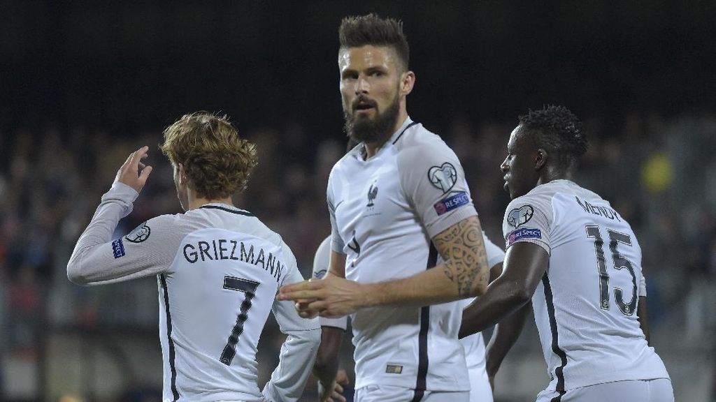 Giroud Pimpin Prancis Atasi Luksemburg 3-1