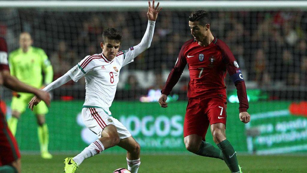 Ronaldo Dua Gol, Portugal Gebuk Hongaria