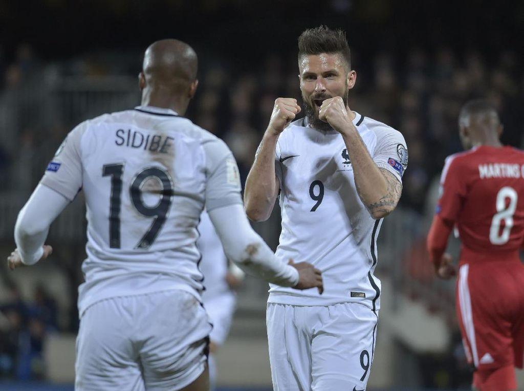 Deschamps Sebut Giroud Sudah Respons Kritikan dengan Gol