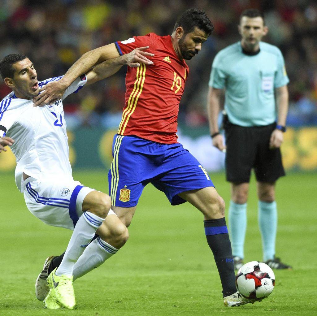 Diego Costa Cedera di Sesi Latihan Timnas Spanyol