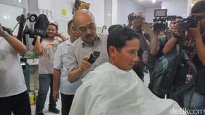 Potong Rambut di Ko Tang, Sandiaga Pilih Gaya Camuri