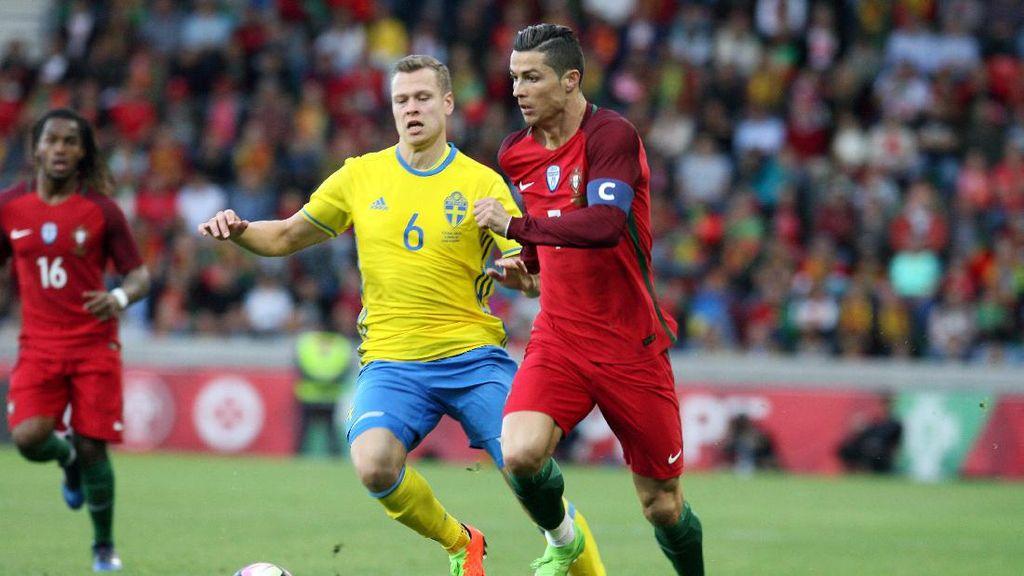 Portugal Takluk dari Swedia Lewat Gol Bunuh Diri di Menit Terakhir