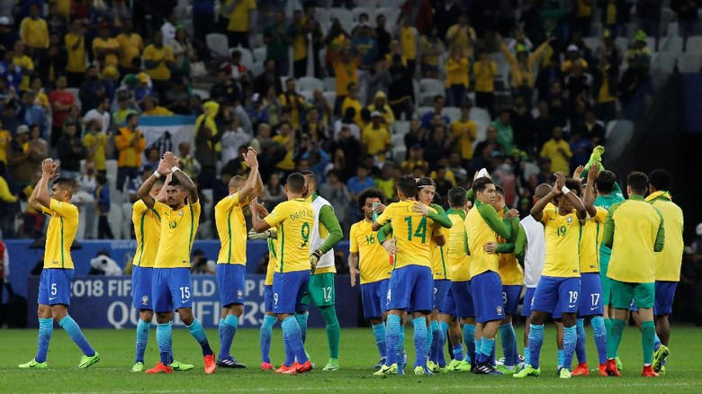 Brasil Dipastikan Lolos ke Piala Dunia 2018