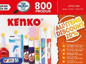 Diskon 20% Alat Tulis Kenko di Office Fair Transmart Carrefour