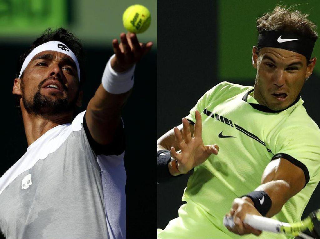 Fognini Tantang Nadal di Semifinal Miami Terbuka