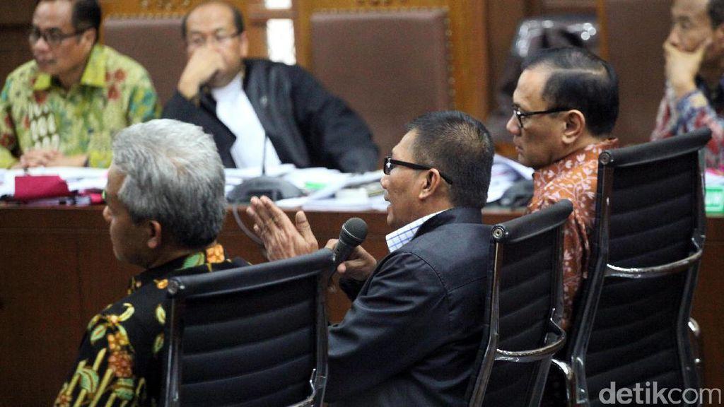 Agus Marto, Ganjar Pranowo dan Agun Gunandjar Jadi Saksi Sidang e-KTP