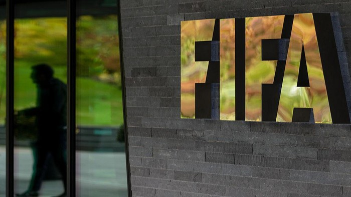 ZURICH, SWITZERLAND - OCTOBER 13: A FIFA logo next to the entrance during part I of the FIFA Council Meeting 2016 at the FIFA headquarters on October 13, 2016 in Zurich, Switzerland. (Photo by Philipp Schmidli/Getty Images)