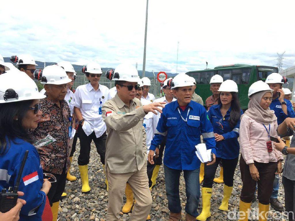 Jonan Kunjungi Sumur Panas Bumi Terbesar Dunia di Sumatera Utara