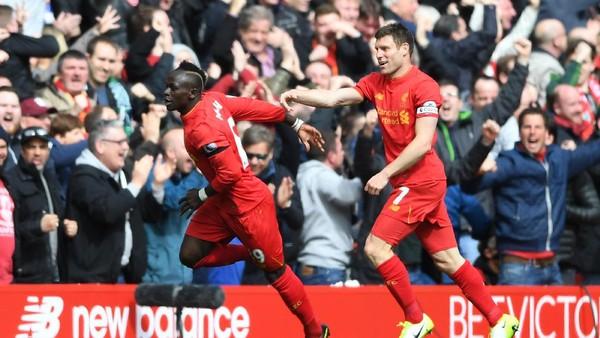 Berbalas Gol, Liverpool Sementara Unggul 2-1 atas Everton