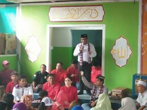 Sekjen PDIP Blusukan ke Rusun Sindang, Kampanyekan Ahok-Djarot