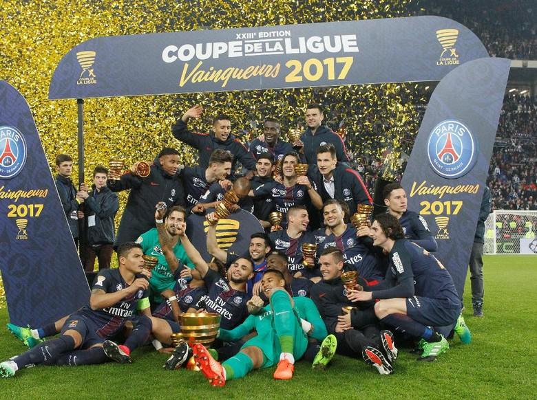 Hajar AS Monaco, PSG Juara Piala Liga Prancis Empat Kali Beruntun