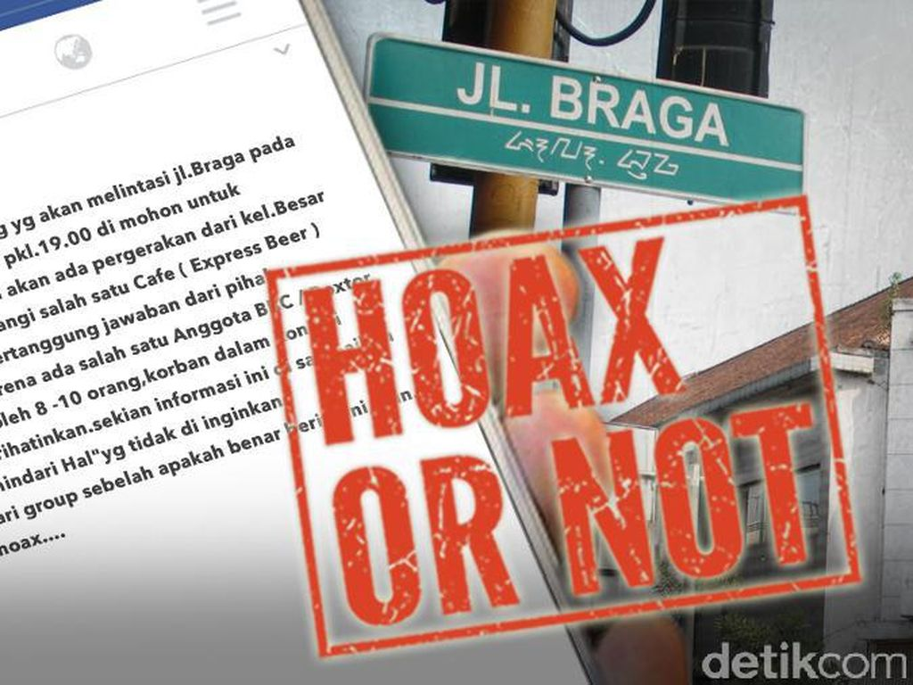 Broadcast Kelompok Massa Berencana Serang Kafe di Braga Bandung
