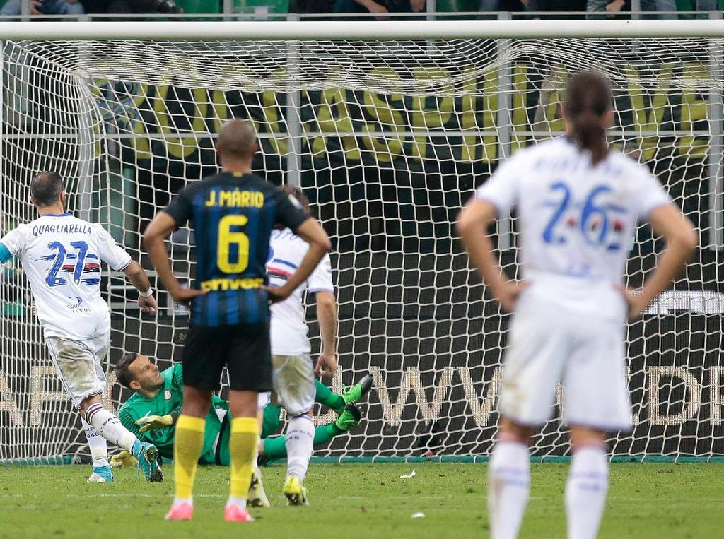 Kekalahan Inter atas Sampdoria dalam Angka