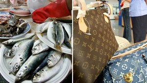 Nenek di Taiwan Pakai Tas Louis Vuitton Untuk Beli Ikan di Pasar