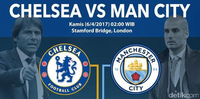 Chelsea Vs Manchester City 2017: Infografis: Chelsea Vs Manchester City