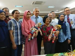 Usai Operasi, Bayi Kembar Siam Rifky-Rafky Sudah Bisa Pulang