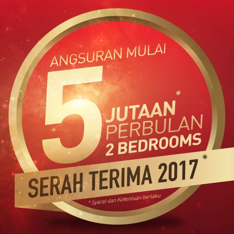 Hunian 2 Kamar di Jakarta Angsuran Rp 5 Jutaan, Serah Terima 2017