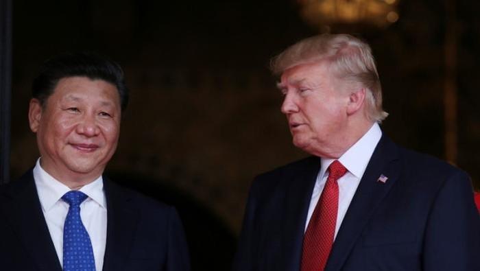 Presiden AS Donald Trump dan Presiden China Xi Jinping