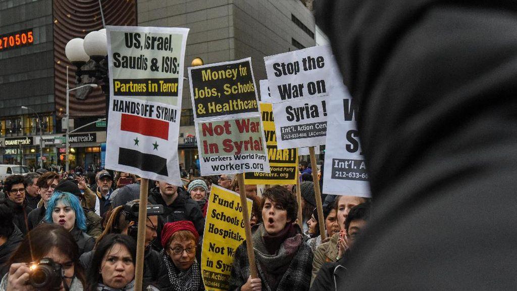 Peta Dukungan vs Kecaman Dunia terhadap Serangan AS ke Suriah