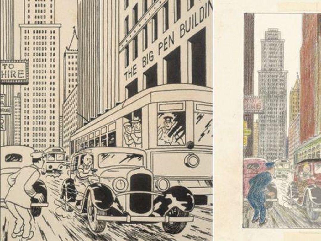 Ilustrasi Langka Komik Tintin Terjual Rp 10 M di Paris