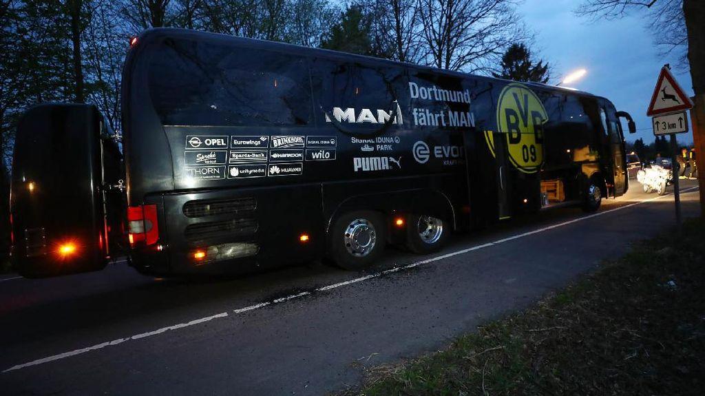 Kaca Bus Tim Dortmund Pecah Akibat Ledakan