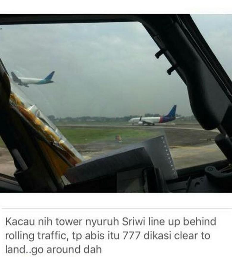 Kronologi Garuda & Sriwijaya Nyaris Tabrakan di Cengkareng