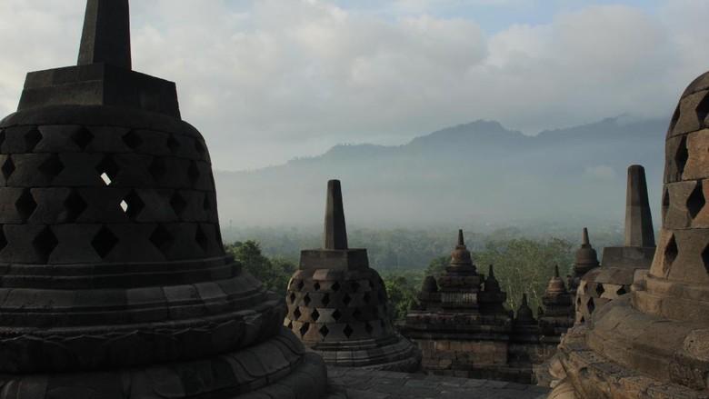 Suasana di Candi Borobudur (Johanes Randy/detikTravel)