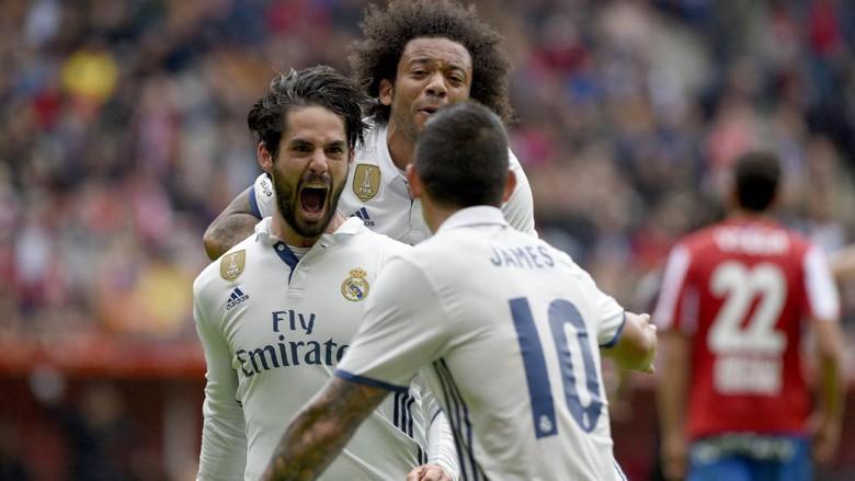 Isco Gemilang, Madrid Kalahkan Sporting Gijon