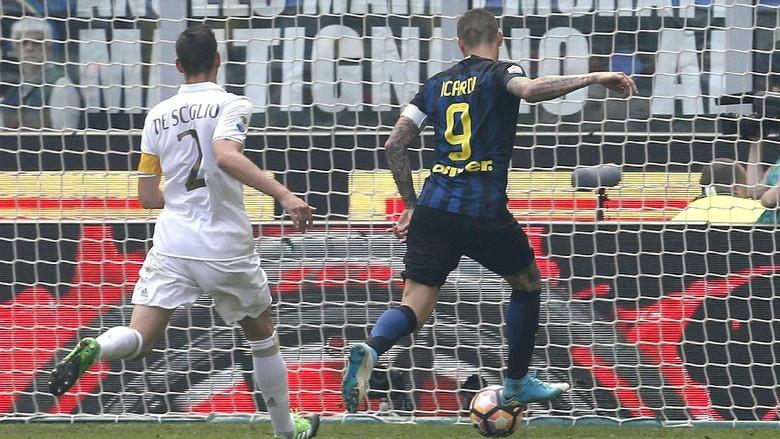 Inter Ungguli Milan 2-0 Saat Half Time