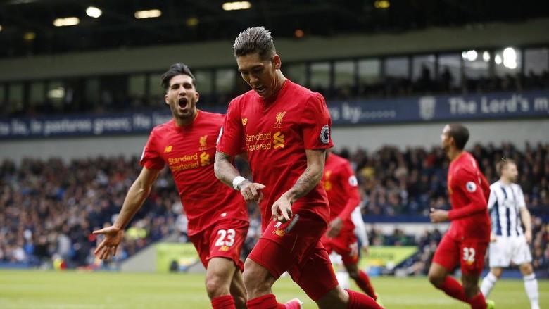Liverpool Menang Tipis Atas WBA Berkat Gol Firmino