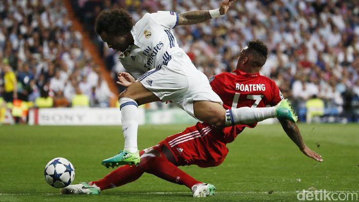 Real Madrid mengalahkan Bayern Munich dengan skor 4-2 pada leg kedua Liga Champions di Santiago Bernabeu, Rabu (19/4/2017) dinihari WIB. Los Blancos pun lolos ke semifinal.